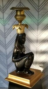 Egyptian Revival Patinated And Gilt Bronze