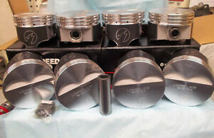 Chevrolet Chevy Small Block Sbc L2490f 030 Flat Top Forged Pistons 383 Stroker