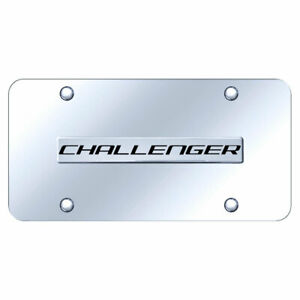 License Plate Chrome With Dodge Challenger Name On Chrome Officially Licensed