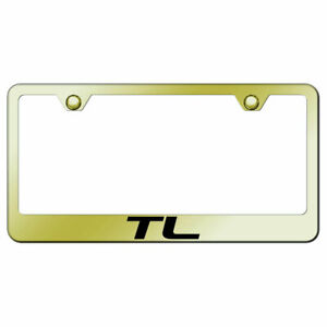 License Plate Frame With Acura Tl Name On Gold officially Licensed