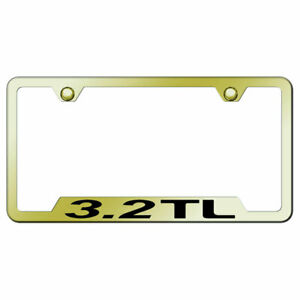 Cut out License Plate Frame With Acura 3 2 Tl On Gold officially Licensed