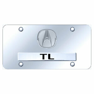 License Plate Dual Chrome With Acura Tl Plain On Chrome Officially Licensed