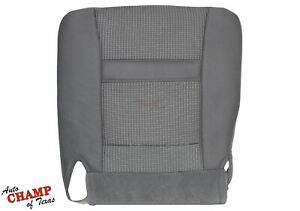 2006 2008 Dodge Ram 1500 2500 3500 Slt Driver Side Bottom Cloth Seat Cover Gray