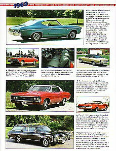 1969 Chevy Chevelle Camaro Impala Yenko Corvair Article Must See