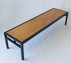 Vintage Mahogany Coffee Table Dunbar Edward Wormley Style Mid Century Modern