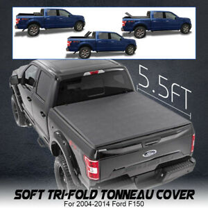 Tonneau Cover Soft Tri Fold For Ford F150 Pickup Truck 5 5ft Short Rear Bed
