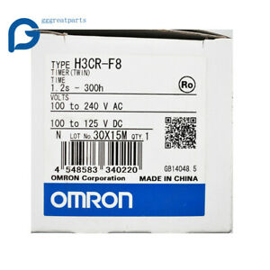 New Omron Plc Twin Timer H3cr f8 100 240vac Free Shipping