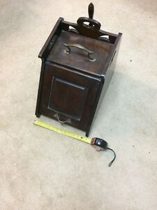 Antique Coal Scuttle Purdonium With Metal Liner And Shovel
