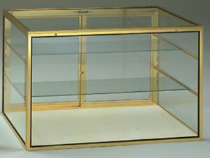 Large Made In Usa Countertop Glass Showcase W Carry Case Lock Knockdown New