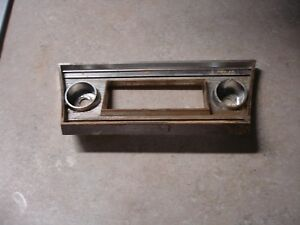 1967 Chevy Chevelle Elcamino Radio Dash Plate Cover 67 Original Gm 3897321