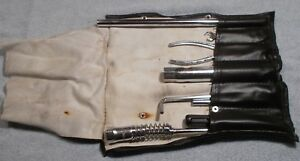 Porsche 968 924s 944 951 Turbo Tool Kit With Leather Bag Case Oem