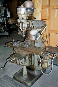 Bridgeport Vertical Milling Machine Model 9brj W 9 x 42 Table 1 Hp J Head