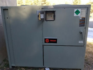 Reduced 30 Ton Trane Air Cooled Chiller Look