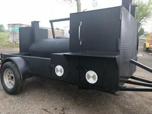 Hogzilla Pizza Oven Bbq Grill Smoker Grill Trailer Food Truck Catering Business