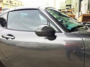 Dry Carbon For Mazda Miata Mx 5 Convertible Rf Outside View Mirror Cover Trim