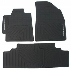 Genuine Toyota 2008 2013 Toyota Highlander Black Rubber All Weather Floor Mats P