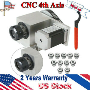 Cnc 4th Axis Hollow Shaft Rotary Table Router Rotational Axis Er32 3 20mm Chuck
