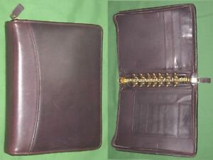 Classic 1 5 Brown Full Grain Leather Franklin Covey Quest Planner Binder 4144