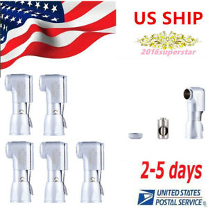 5pcs Nsk Style Dental E type Latch Contra Angle Head Fit Low Speed Handpiece Usa