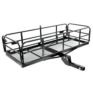 Universal Folding Hitch mount Cargo Carrier Mounted Basket Luggage Rack