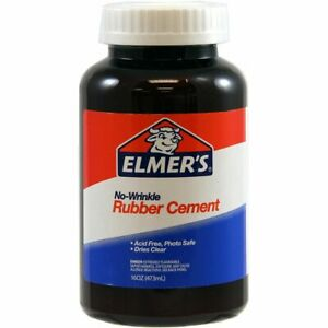 Elmers No wrinkle Rubber Cement 16 Oz Clear 232