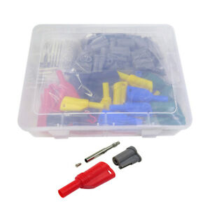 70 Pcs Insulated Safety Protection 4mm Banana Plug 5 Colors For Multimeter