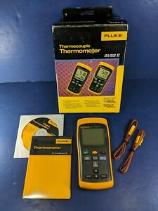New Fluke 52 Ii Thermocouple Thermometer Original Box See Details
