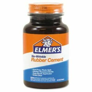 Elmers No wrinkle Rubber Cement With Brush 904