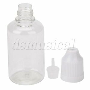 30ml Squeezable Dropper Bottles Eye Liquid With Thin Tip And Cap Pack Of 50