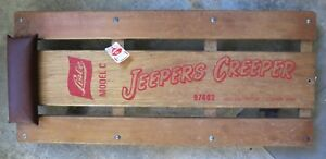 Vintage Lisle Jeepers Creeper Wooden Auto Creeper Model C 97492