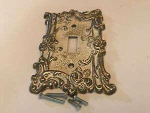 Switch Plate Cover Shabby Distressed Single Antique White American Tack 1967