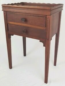 Antique Fire Mahogany End Table Night Stand Sewing Stand Federal Vintage