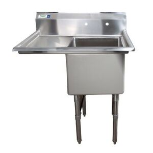 18 X 18 X 14 Stainless Steel Commercial Utility Sink Bowl Mop Prep