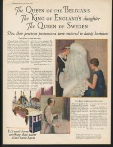 1925 Lux Laundry Soap Dress Heirloom Box Wash King Queen Lace Garment 22149