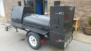 Night Hog Mini Hogzilla Mobile Bbq 24 Grill 4 Barrel Smoker Trailer Food Truck