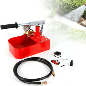 Manual Water Hydraulic Pump Pipe Pressure Test Testing Pump Tool 1000psi 7mpa Us