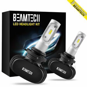 2x Beamtech Led Headlight Kit 9006 Hb4 Low Beam Fog Light Conversion Bulb 6500k