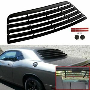 Fits 08 20 Dodge Challenger Rear Window Scoop Louver Sun Shade Cover Vent Black