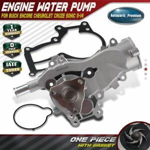 Engine Water Pump For Buick Encore Chevrolet Sonic Cruze 2011 2014 I4 1 4l Turbo