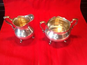 Poole 100 Sterling Silver Sugar Bowl And Creamer 16 6 Ounces