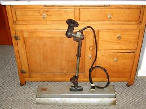 Vtg Rare Antique Woodward Machine Age Industrial Fluorescent Light Factory Lamp