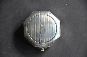 Antique Sterling Compact Pillbox