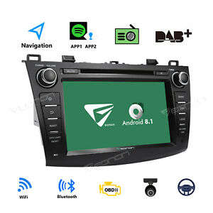Us Android 8 1 8 Car Radio Gps Sat Navi Dvd Player Stereo For Mazda 3 2010 13 B