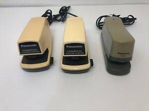 Panasonic Commercial Electric Stapler Lot Of 3