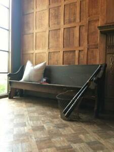 Antique Wood Church Pew 100 Years Old Wooden Church Bench Seating