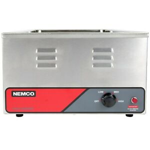 Nemco 6055a Full Size Heated Pan Food Warmer 1200 Watts Adjustable Thermostat