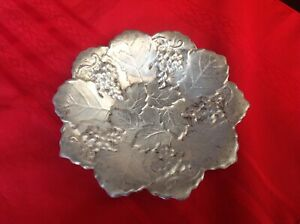 Poole 99 Sterling Bowl Leaves Grapes 3 4 Ounces