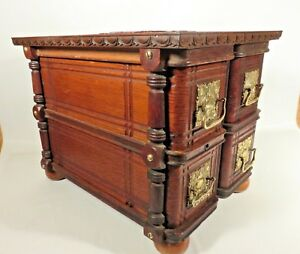 Antique Singer Sewing Machine Drawer Jewelry Box Cabinet