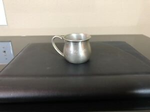 Vintage Lunt Sterling Baby Cup Monogram Great Condition Model 102