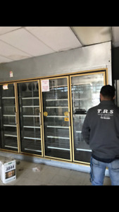 Walk In Cooler Door Gold Color